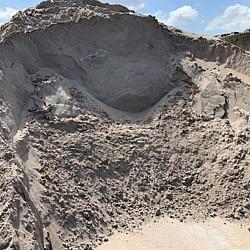 *Ophoogzand losgestort per ton 0-1 mm Zand