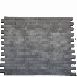*Facetto Grijs-Zwart 5x20x6 Beton tegels