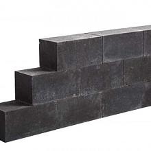 Lineablock Black 15x15x30 Strak muurelement, ongetrommeld Stapelblokken