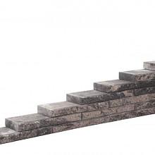 Line block Matterhorn 20x55x6 Strak stapelbaar muurelement 2 zijden gekloofd met facet Stapelblokken
