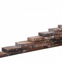 Line block Kilimanjaro 20x55x6 Strak stapelbaar muurelement 2 zijden gekloofd met facet Stapelblokken