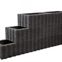 Beplantbare resupor elementen Zwart 40x60x25 Rechthoekflor Bloembakken