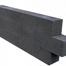 Patioblok Antraciet 60x15x15 Strak Stapelblokken