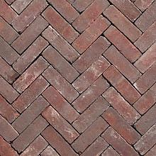 DF Ruston Natura Rood paars bezand 6,5x20x8,5 Dikformaat Getrommeld Stenen en klinkers