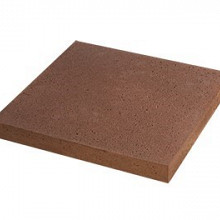 Oud Hollandse tegel,zonder facet Roodbruin 50x50x5 Beton tegels