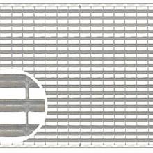 Maasrooster tbv schoonloper 50x100x2 Verzinkt staal Schoonlooproosters