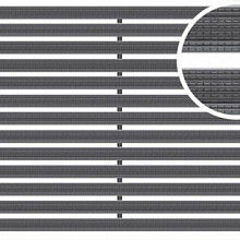 Mat tbv schoonloper Antraciet 50x75x2 Aluminium met rubberstroken Schoonlooproosters