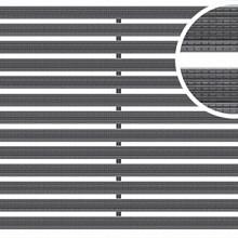 Mat tbv schoonloper Antraciet 50x100x2 Aluminium met rubberstroken Schoonlooproosters