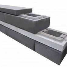 Moderno block Monte Titano 30x60x15 Strak muurelement Stapelblokken
