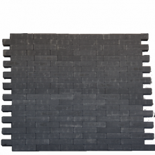 *Facetto Antraciet 5x20x6 Beton tegels