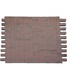 *Facetto Rood-Zwart 5x20x6 Beton tegels